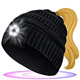 EastPin Beanie with Light, Stocking Stuffers for Men and Women, Beanie with Light Rechargeable, Personalised Gifts Beanie Hats for Running/Camping/Cycling/Walk The Dog Warm Black