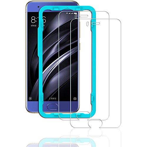 Flos Protector Pantalla Xiaomi Mi6 [2 Piezas] [Fácil de Instalar] [Garantía de por Vida], Cristal Templado 9H Dureza [3D Touch Compatible], Anti-Huella para Xiaomi Mi6