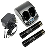 HQRP Battery Charger and Two Batteries Compatible with Black & Decker 3.6V Versapak VP100 VP110 22-4040 22-4035 VP130 VP100C VP105C VP110C 152370-03 Power Tools
