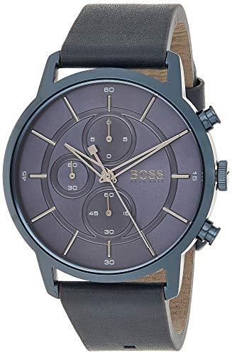 Hugo BOSS Reloj Cronógrafo para Hombre de Cuarzo con Correa en Cuero 1513575