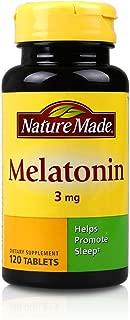 Nature Made 莱萃美 褪黑素3mg 120片 麦拉托宁 改善睡眠 (1瓶)