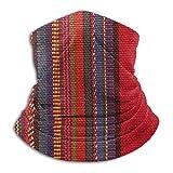 Lawenp Detalle de manta con revestimiento facial de redecilla para adultos de color latinoamericano para hombres y mujeres, pasamontañas para calentar el cuello, pañuelos, lavables y reutilizables,