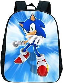 Mochila Impresa Sonic de 12 Pulgadas Mochila para Niños, Mochila Linda Mochila Escolar de jardín de Infantes