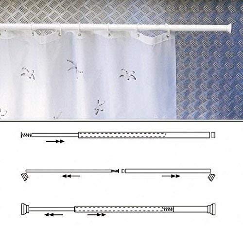 MAURER 4042204 Barre Extensible pour Rideau de Douche Blanc 70 X 125 cm