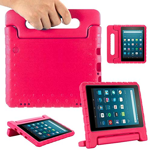 GHC PAD Cases & Covers For Amazon fire HD 8 inch 2020, EVA Kids Shockproof Safe Tablet Case Children Anti-drop Case for Amazon fire HD 8 Plus 2020 (Color : Rose)