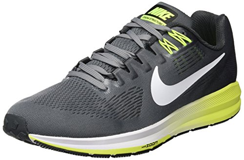 Nike Men's Air Zoom Structure 21 Running Shoe Cool Grey/White-Anthracite-Volt 12.0