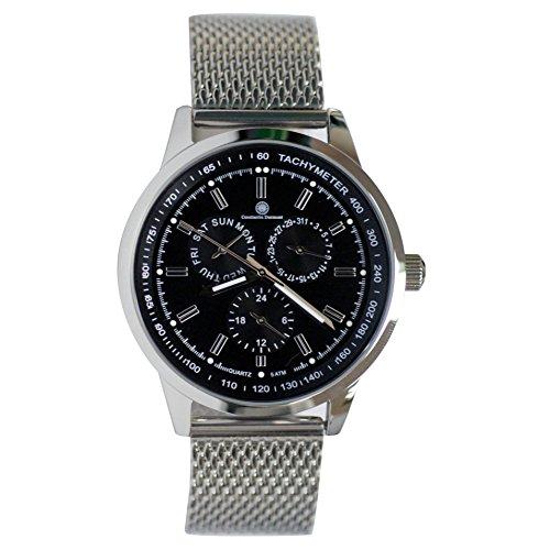 Constantin Durmont Men's Quartz Watch Analogue Display and Stainless Steel Strap CD-ORLA-QZ-STM2-STST-BK