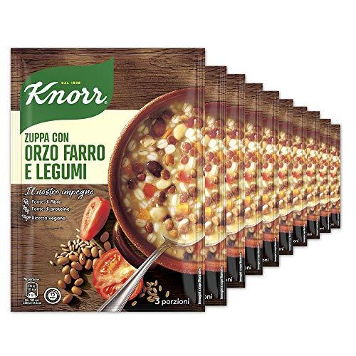 Knorr Zuppa Cereali E Legumi - Confezione Da 10 Pezzi - 1.19 kg