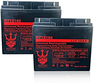 Terminator ES-40 12V 18Ah SLA Replacement Electric Scooters Battery - 2 Pack