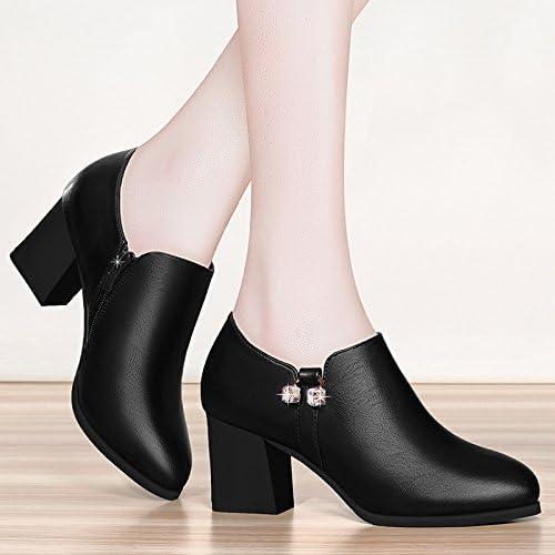 Yukun Schuhe mit hohen Absätzen Frauen Schuhe Herbst High Heels dick mit Mutter einzelne Schuhe Mode mit Frauen Schuhe Frühling