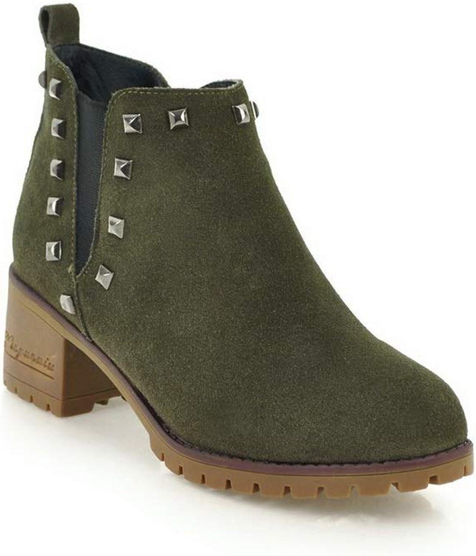 AdeeSu Womens Studded Bucket-Style Fashion Urethane Boots SXE04037