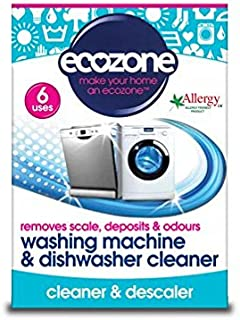 Ecozone Washing Machine & Dishwasher Descaler Tablets 6 per pack - (Pack of 2)
