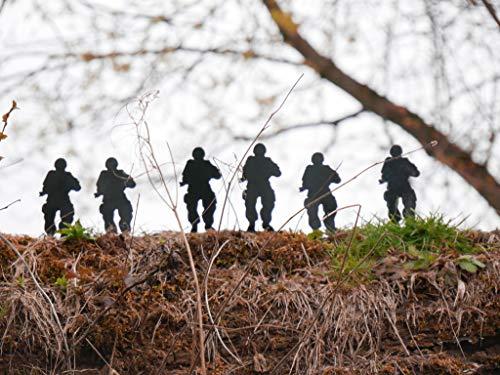 hhhunting 6 Stück Packung freistehend 10cm Metall Soldat Ziel Schießbude, Luftgewehr klopfen Down Ziel set. Weihnachten Geschenk