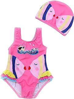 FEMININO Girls Swimsuit One Piece Kids Bathing Suit Toddler Bikini - Beach Sport Surf