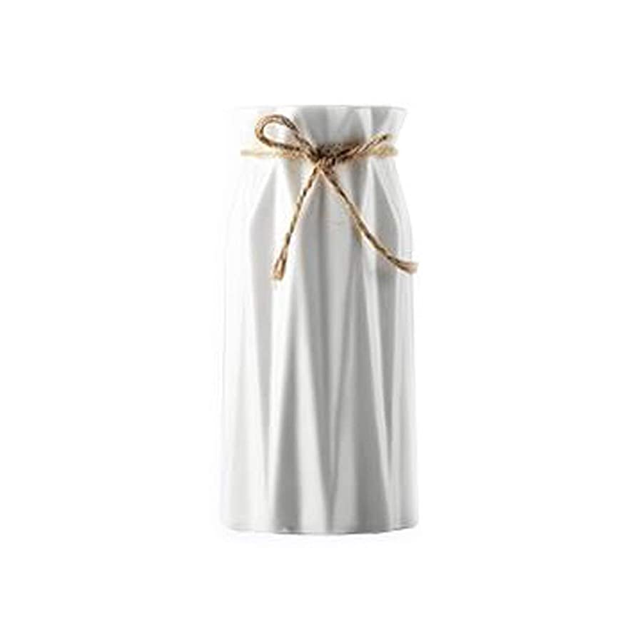住居傑出したジョージハンブリーCPWJD 花瓶、ノンスリップマット、セラミック花瓶、装飾ディスプレイ、フラワー挿入 (Color : White)