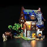 LIGHTAILING Light Set for Medieval Blacksmith Building Blocks Model - Led Light Kit Compatible with Lego 21325 (Not Include The Model)