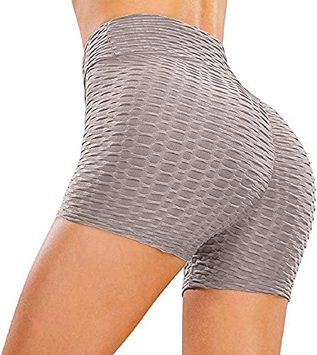 Pantalones Cortos Leggings Mujer Mallas Yoga Pantalones Alta Cintura Elásticos Push Up Pantalones Cortos Mallas Pantalones Deportivos Mujer Pantalones Cortos Leggings para Yoga Running Fitness