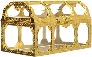 TOPBATHY パーティー用ギフトボックスビンテージクリアキャンディーボックスギフトボックス宝箱や結婚式の誕生日パーティーの贈り物用品の装飾(ゴールド)