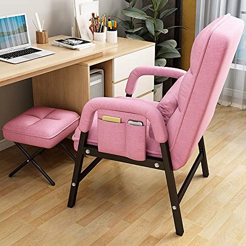 Computerstuhl, bequemer Liegesuhl, Freizeitspielstuhl, das Faule Sofa, Rückenlehne Bürostuhl-Rosa