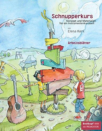 Schnupperkurs Konzept und Materialien für ein Instrumentenkarussell - Basispaket (Klavier, Violine, Gitarre, Blockflöte) (EB 8764)