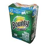 Bounty バウンティ ペーパータオル(キッチンタオル) ダブル 117シートx12巻 幅広無地タイプ