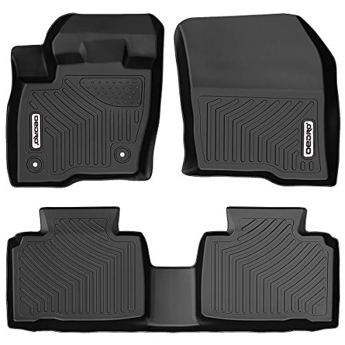 OEDRO Floor Mats Compatible for 2015-2020 Ford Edge, Unique Black TPE All-Weather Guard Includes 1st and 2nd Row: Front, Rear, Full Set Liners