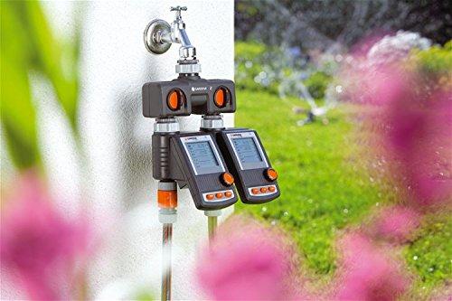 Anschlussmöglichkeit für 2 Geräte an den Wasserha GARDENA 2-Wege-Verteiler