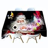 Shadow Cubierta de Mesa a Prueba de Polvo Navidad Mantel Impreso en 3D cabaña Mantel de Personalidad de Navidad Mantel de Personalidad Colgante de Tela 140x200cm