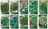 10 Sorten | Kräuter Saatgut Sortiment | über 60000 Kräutersamen | Vorteilspackung | ab sofort Winter-Aktionspreis