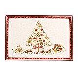 Villeroy & Boch Winter Bakery Delight Plato para Pastas Rectangular Grande de 39 x 26.5 cm, Porcelana, Multicolor, 39x26,5x5 cm