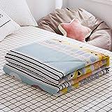 XNSY Soft Sommerdecke aus gewaschener Baumwolle-180x220cm_B.