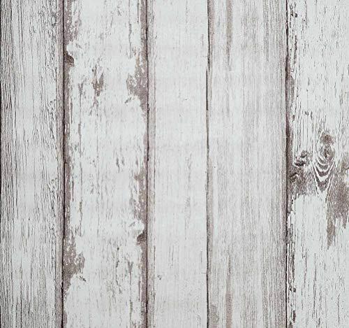 Arthome Papel Pintado Adhesivo, 53cm x 565cm Autoadhesivo Espesar Impermeable Duradero Vinilo Vintage Madera Papel Para forrar Muebles, Papel Para Decorar Pared