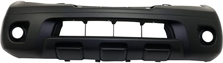 Bumper Cover for Nissan Frontier 09-17 Front Primed Top Textured Bottom Plastic 1-Piece Type Bumper
