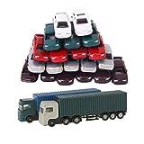 perfeclan 52 Piezas de Camión Contenedor, Vehículo de Construcción, Modelo de Coches,...