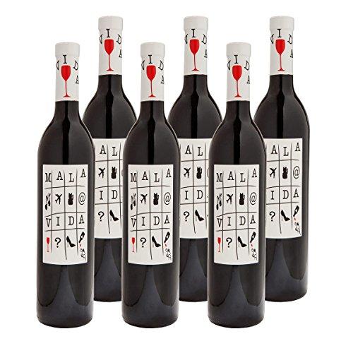 MALA VIDA Vino Tinto Weinpaket   Rotwein D.O. Valenica   Bodegas Arráez   Monastrell, Cabernet Sauvignon, Syrah und Tempranillo   Spar-Set mit 6 Flaschen