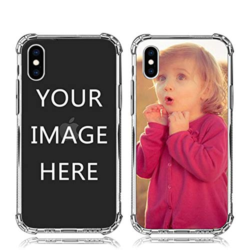 Custom iPhone Xs max Case Soft TPU Bumper Crystal Clear Shock Absorbing Cover Personalized Photo Phone case for iPhone Xs max- Design Your Own iPhone Case with Image,Text and Business Logo