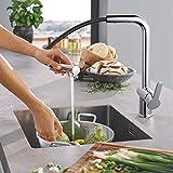 Dalmo - Grifo de cocina con caño extraíble para fregadero - Alta presión - Latón...