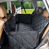 MOKOQI Pet Car Seat Cover with Side Flaps, Universal Waterproof Dog Back Soft Seat Covers Hammock Cat Car Bench Non-Slip Protector for Trucks SUV Car Family Travel