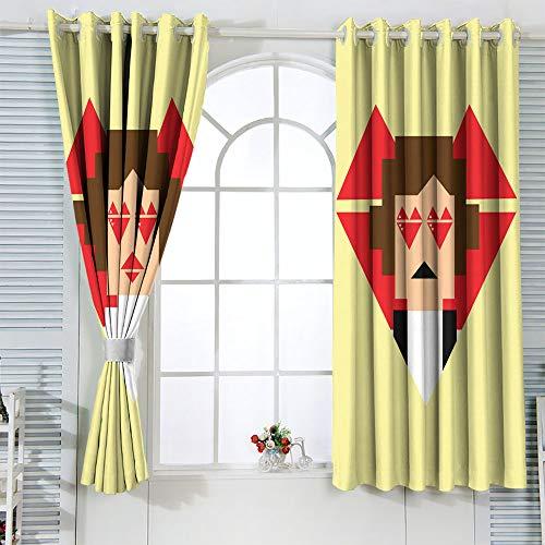 STTYE - Tenda oscurante impermeabile per finestra, motivo: Star Wars, Solo Star Wars Leia, per porta, larghezza 42 x lunghezza 72