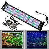 Lueigmo Iluminación LED para acuario de 31 W, RGB espectro para plantas de 90 – 115 cm, regulable