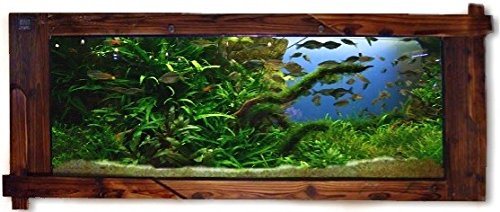 Wandaquarium- Dark Wood 160, Panorama Aquarium - Wall Aquarium