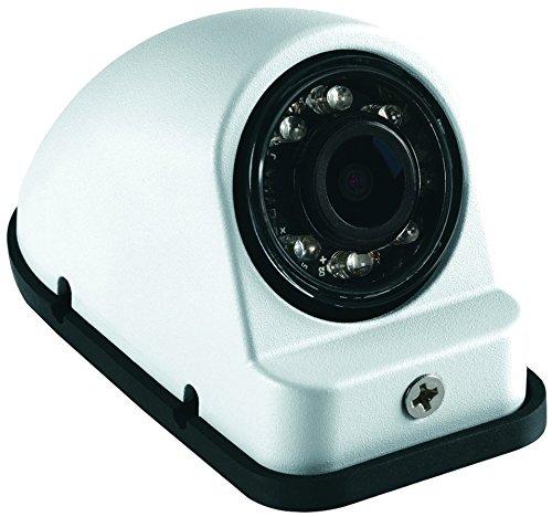 Voyager VCMS50LWT Model VCMS50L Color CMOS IR LED Camera, White Housing, Left Side Orientation, High Performance Color Optics, Waterproof (IP69K), Aluminum housing, IR Low Light Assist