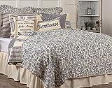 Piper Classics Doylestown Bettwäsche- & Duschvorhang, Blau Landhausstil Queen Quilt blau
