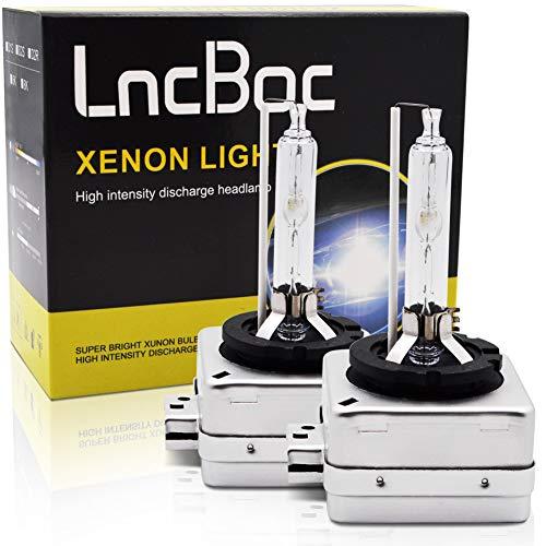 LncBoc D1S HID 35W Xenon Blanco Repuesto Faro Bombillas 6000K 2 unidades