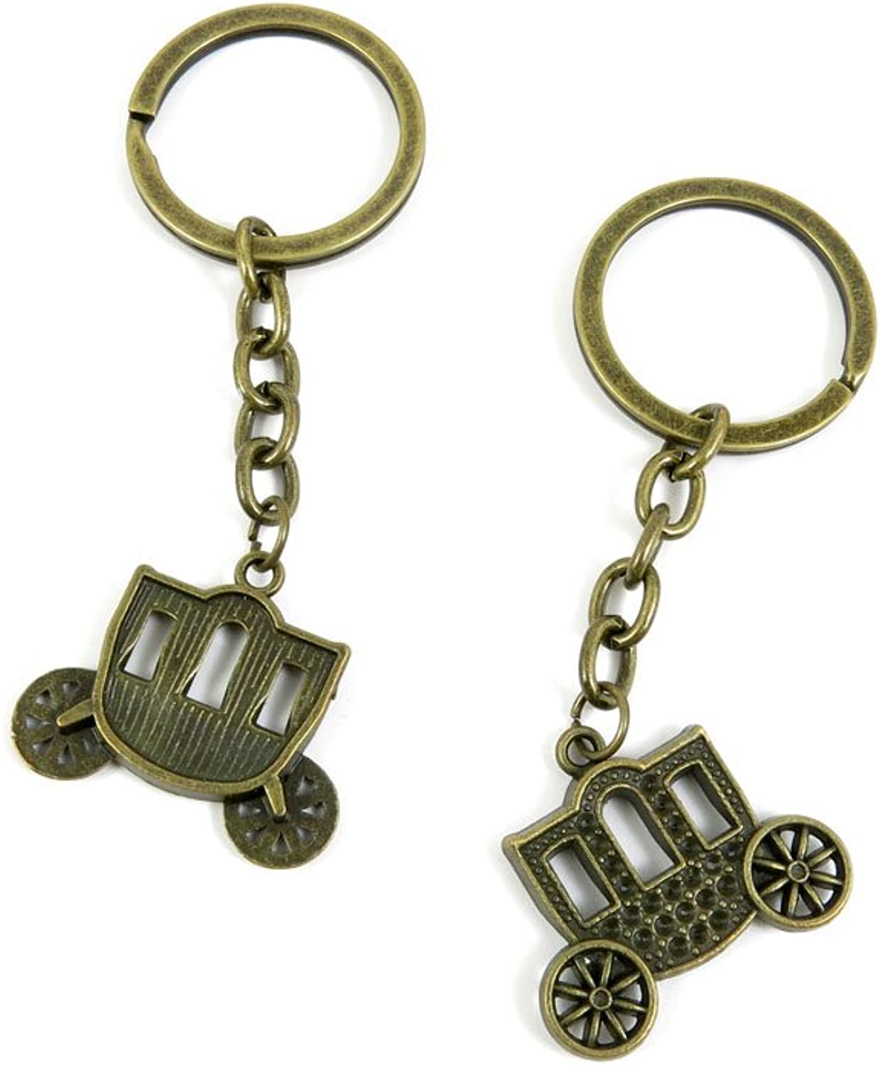 80 PCS Keyring Car Door Key Ring Tag Chain Keychain Wholesale Suppliers Charms Handmade J6OX7 Horse Carriages