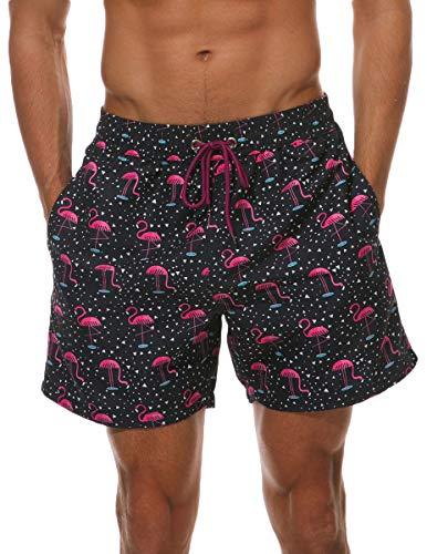 IRICHEE Hombre Bañadores de Natación Pantalones Cortos Baño Bóxers impresión Playa Shorts