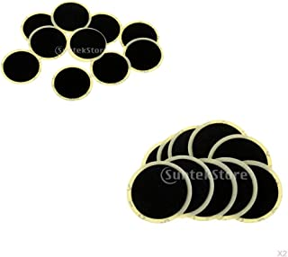 Perfk 25mm Self Adhesive Round Tire Patches for Motorcycle Bicycle Bike, Pack of 20