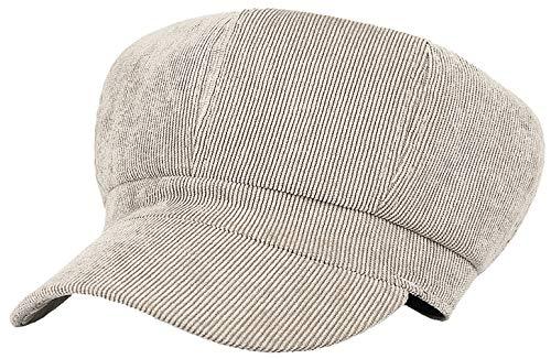 GEMVIE Boina Mujer Invierno Marinero Boina Gorra Pana Multicolor Newsboy Hat Ajustable Plegable Invierno 8 Paneles (kakki)