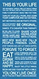 Culturenik This is Your Life Inspirational Motivational Photography Quote Print (Unframed 12x24 Poster)
