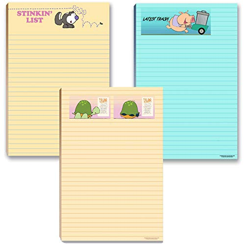 Funny To Do List Notepads Pack - Large 5.5x8.5 Notepads - 3 Pads For Your Lists - Office Notepads (Funny)